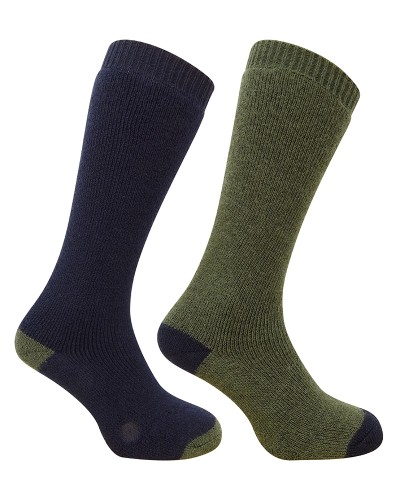country long socks (twin pack)